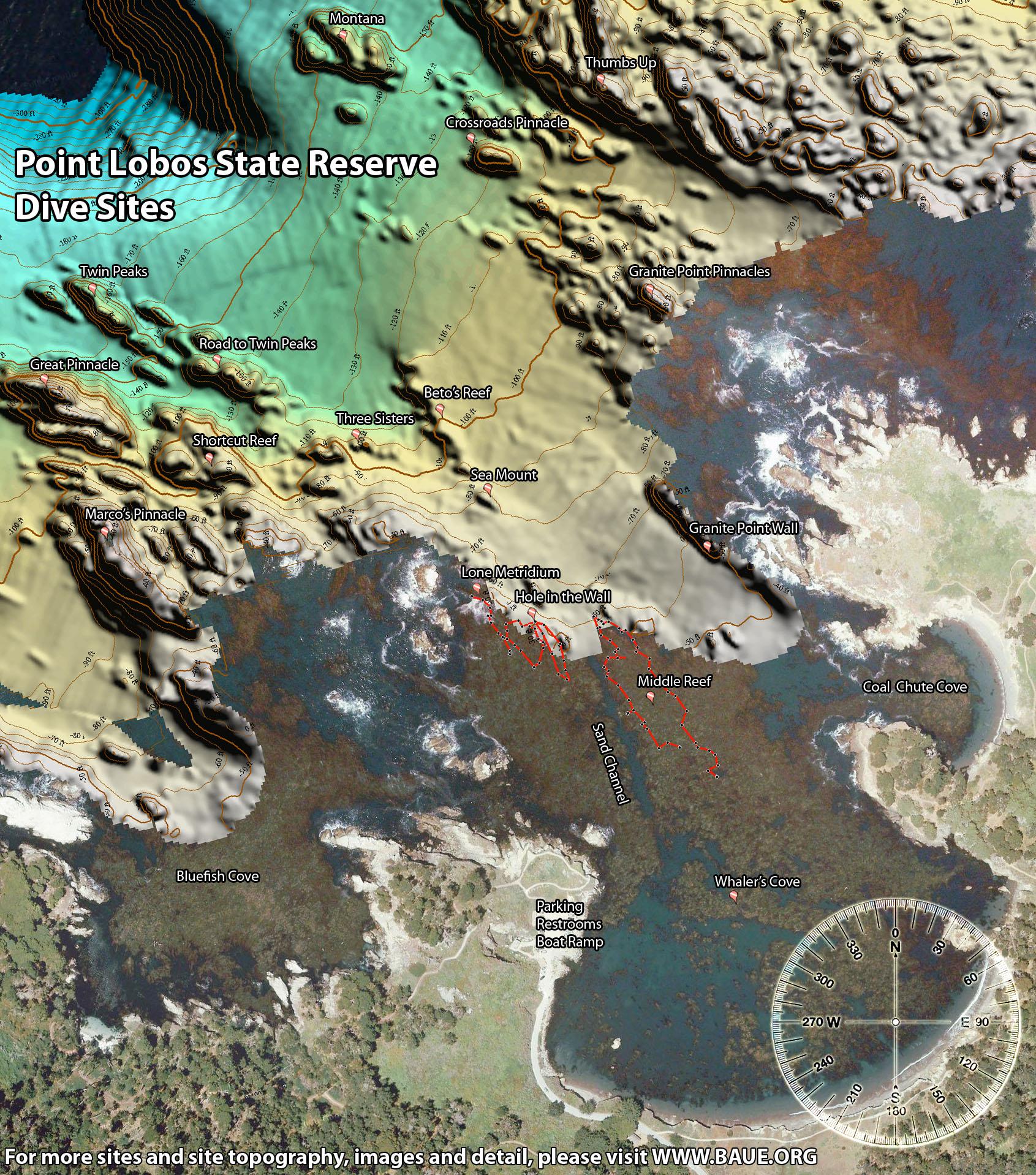 Point Lobos Underwater Maps